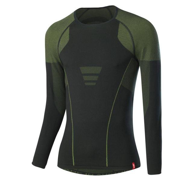 Löffler Shirt Transtex warm hybrid LA Funktionsunterwäsche schwarz gelb