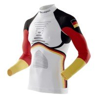 X-Bionic Ski Man Patriot Accumulator Evo Shirt Germany Funktionsshirt langarm weiß