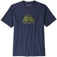 Patagonia Live Simply Winding Resp Tee T-Shirt blau