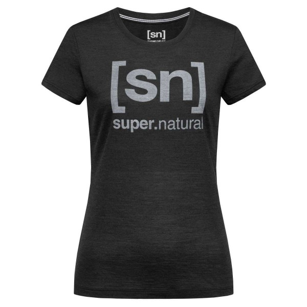 Super.Natural Essential I.D. Tee Damen Merino Funktionsshirt schwarz