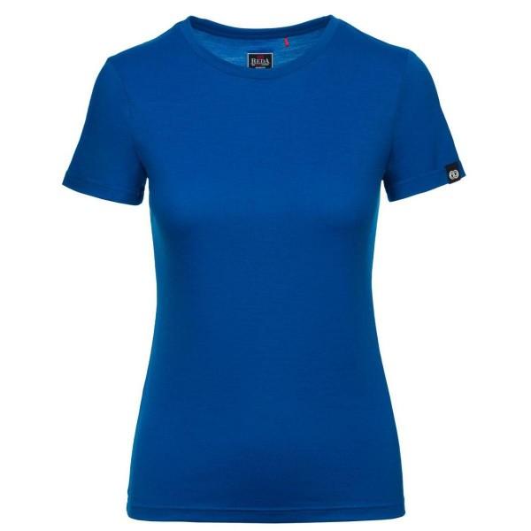 Rewoolution Cherry Merino T-Shirt SS Damen Funktionsshirt blau