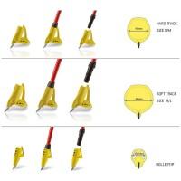 Leki Fin Vario Set inklusive Tellergröße SM und ML und Rollerspitze gelb