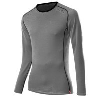 Löffler Shirt Transtex Merino langarm Funktionsunterwäsche grau