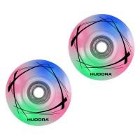 Hudora 2 LED Ersatzrollen Inline Skates 58mm x 33 mm