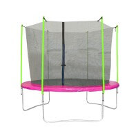 3s-sports Trampolin Girly Ø 305 cm mit Sicherheitsnetz pink