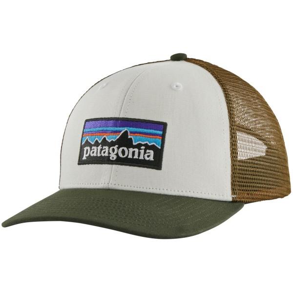 Patagonia P-6 Logo Trucker Hat Schildmütze weiß braun