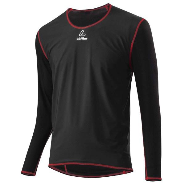 Löffler M Windstopper Shirt L/S Transtex Light Funktionsshirt schwarz