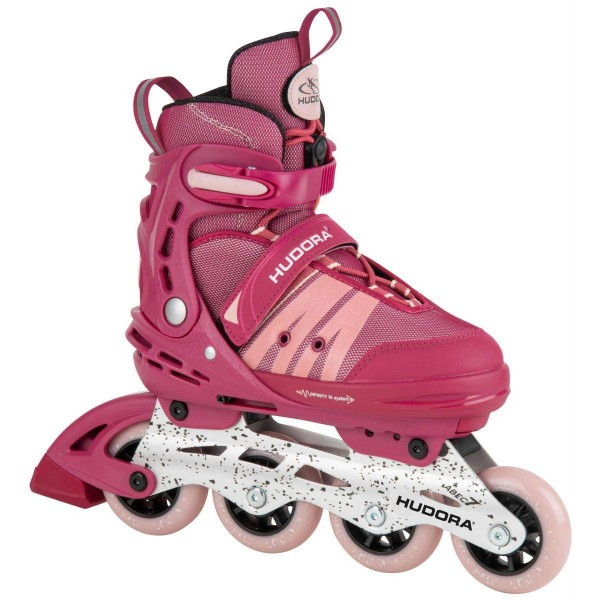 Hudora Inline Skates Comfort strong berry verstellbar rot