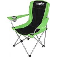 High Colorado Camping Stuhl mit Armlehne schwarz grün