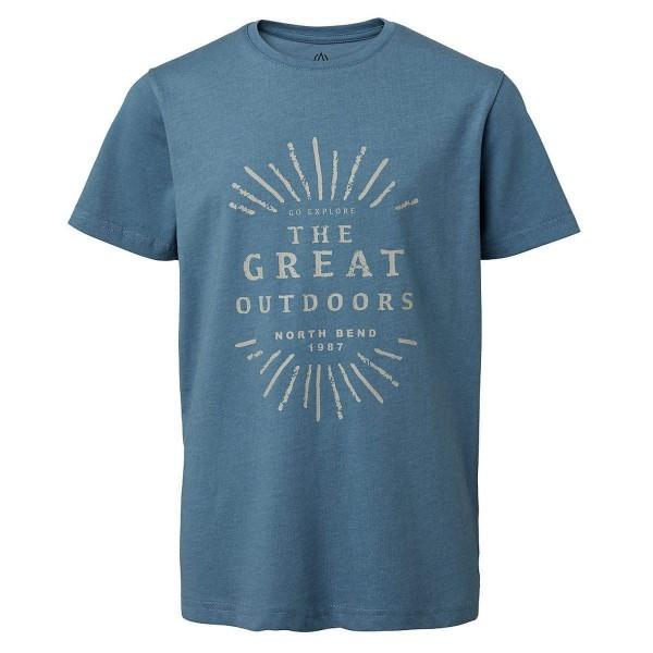 North Bend Vertical Tee Kinder T-Shirt blau
