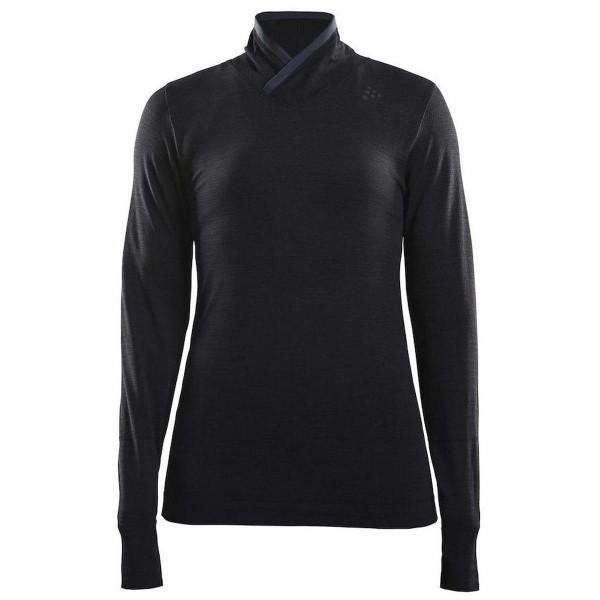 Craft Fuseknit Comfort Wrap Damen Langarmshirt schwarz