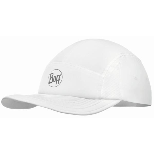 Buff Run Cap Solid Schildmütze weiß