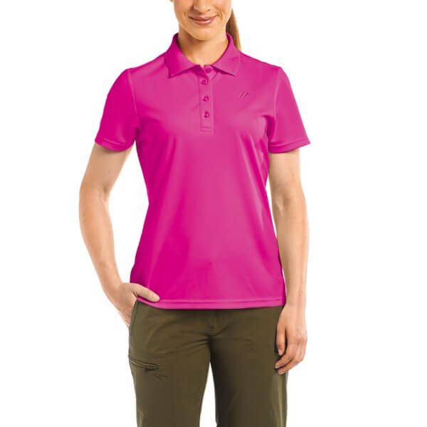 Maier Sports UIrike Damen Poloshirt fuchsia pink
