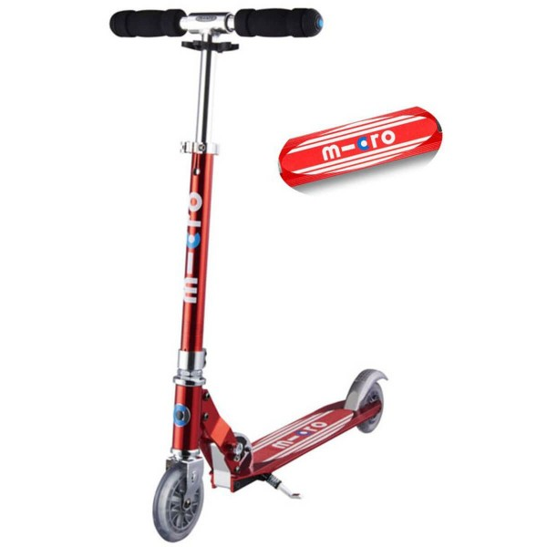 Micro Scooter Sprite rot mit Streifen
