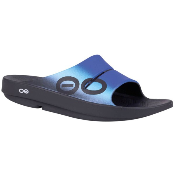 OOFOS Ooahh Sport Regenerations Sandalen blau