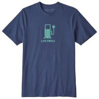 Patagonia Live Simply Power Resp Tee T-Shirt blau
