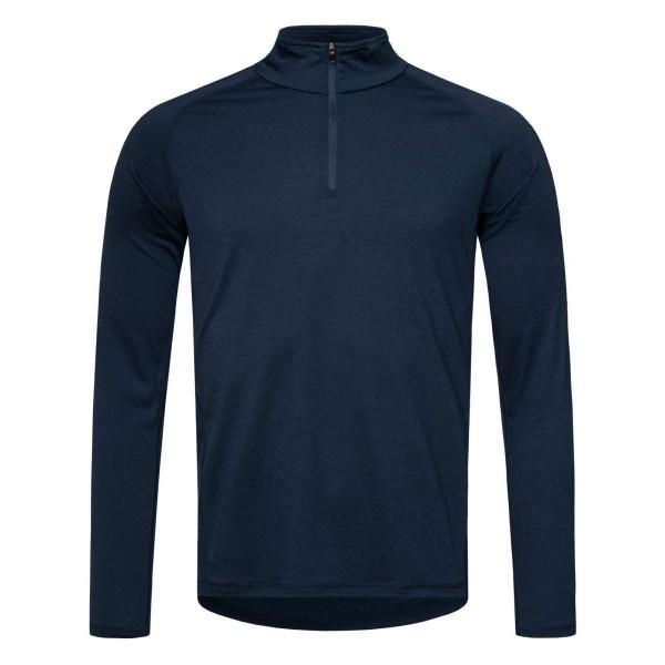 Super.Natural M Base 1/4 Zip 175 Merino Funktionsshirt blau