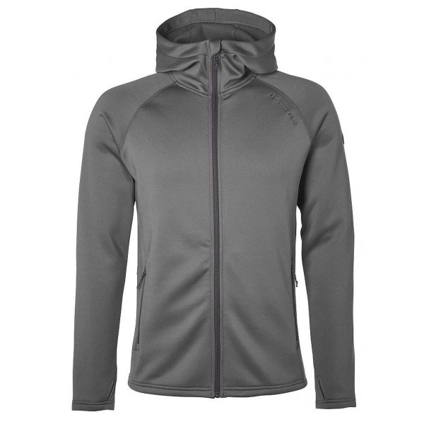 North Bend Vector Hoddie Fleecejacke grau