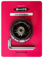 Micro Rolle 80mm transparent komplett