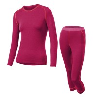 Löffler Set 3/4 Hose Transtex warm  Damen Funktionsunterwäsche Set rot