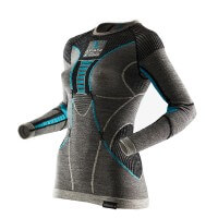 X-Bionic Apani Merino Lady Unterwäsche Shirt Damen Funktionsshirt langarm schwarz