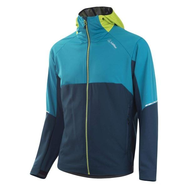 Löffler M Hooded Hybrid Jacket WS Light Funktionsjacke blau