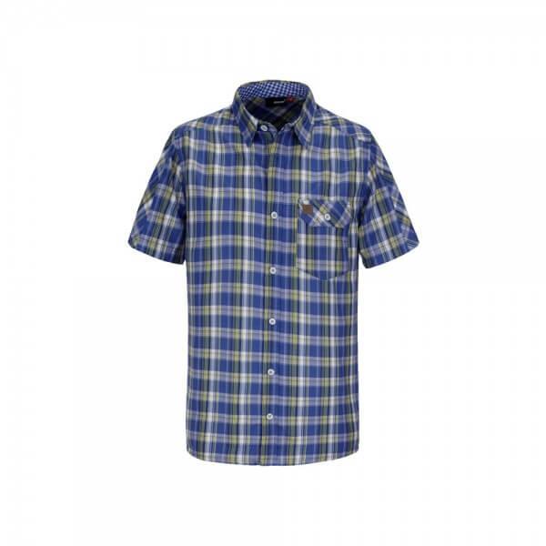 Maier Sports Levico Herren Hemd blau kariert