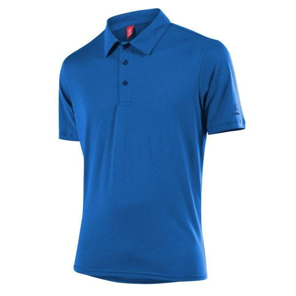 Löffler Poloshirt Transtex Single CF Funktionsshirt curacao blau