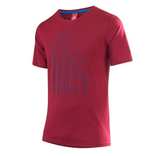 Löffler Printshirt Transtex Single Funktionsshirt rot