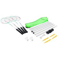Hudora Badminton Set Team HD-44 Badmintonschläger und Netz