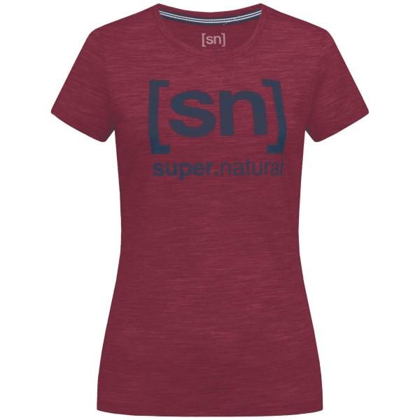 Super.Natural W Essential I.D. Tee Merino Damen Funktionsshirt rot