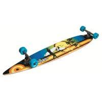 No Rules Longboard Beach Abec 7 Skateboard schwarz bunt