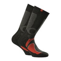Rohner next Kinder Trekking Socks Wandersocken Doppelpack schwarz rot