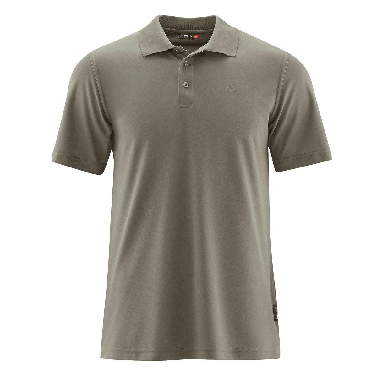 Löffler Poloshirt Merino Funktionsshirt grau