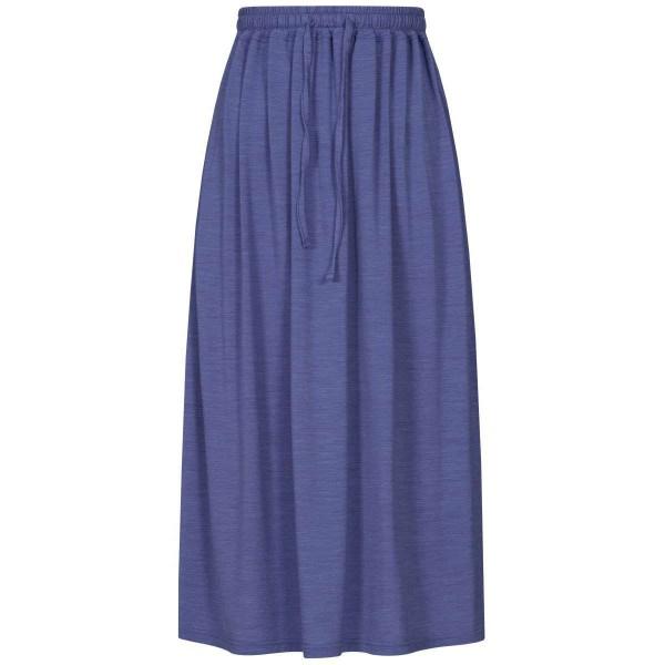 Super.Natural Long Skirt Damen Merino Funktionsrock blau