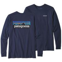 Patagonia LS P-6 Logo Responsibili Tee Pullover blau