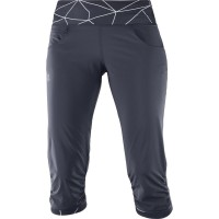 Salomon Elevate Capri Pants Damen 3/4 Wanderhose grau