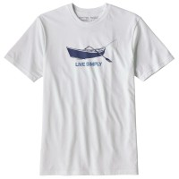 Patagonia Live Simply Drift Boat Resp Tee T-Shirt weiß