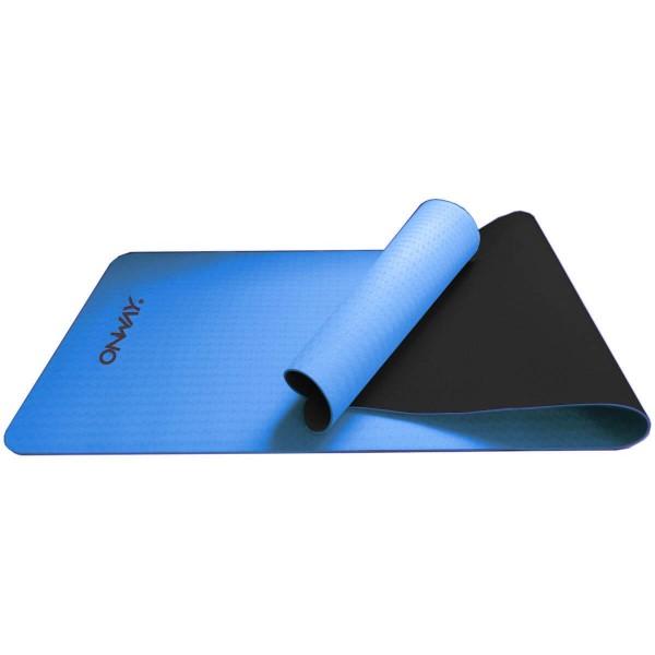 OnWay Yogamatte mit Tragegurt 6mm Fitnessmatte blau