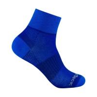 Wrightsock Coolmesh II quarter doppellagige Socken blau