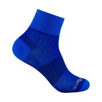 Wrightsock Coolmesh II quarter doppellagige Socken blau