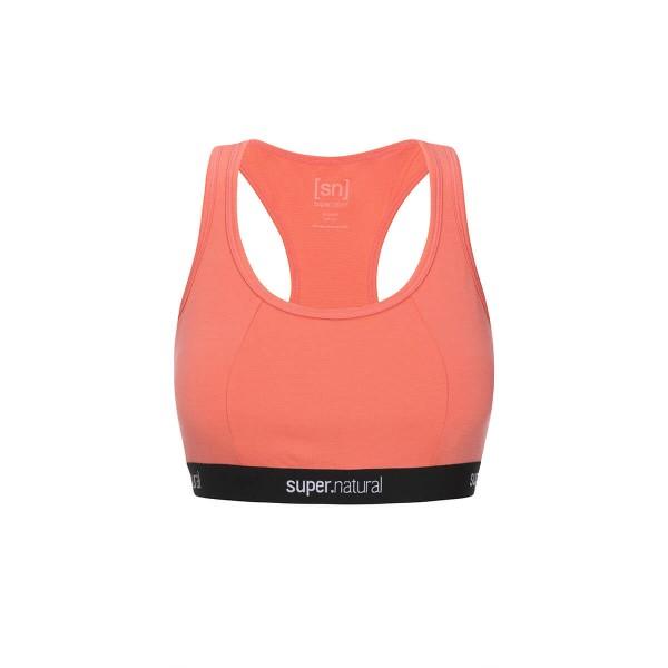Super.Natural Yoga Bustier Damen Merino Sport-BH rot