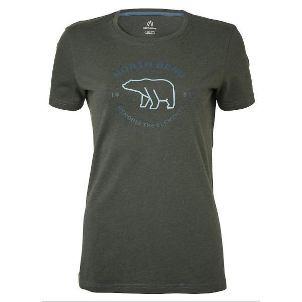 North Bend Vertical Tee Damen T-Shirt grau