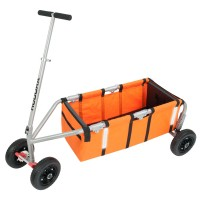 """Hudora Überländer Kompakt 9"""" Bollerwagen orange"""