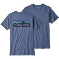 Patagonia P-6 Logo Organic T-Shirt blau
