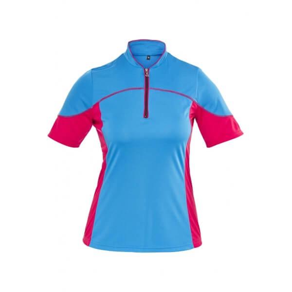 Gonso Jave Damen Radtrikot pink blau
