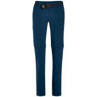Maier Sports Inara Slim Zip Off Damen Wanderhose blau