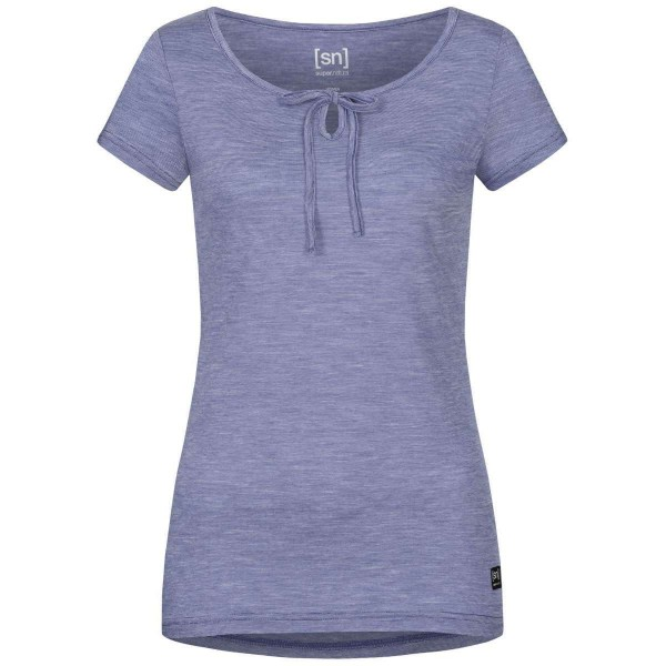 Super.Natural Relax Tee Damen Merino Funktionsshirt blau