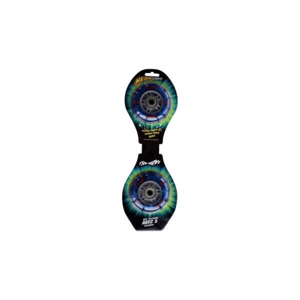 Street Surfing 2 LED Leuchtrollen Light Up Wheels Neon blau