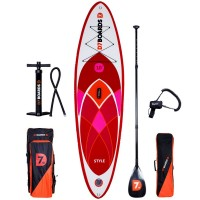 D7 Style 10.0 iSUP Stand Up Paddling Board Set mit Carbon Paddel 2017